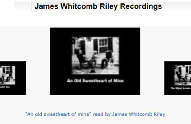 """An old sweetheart of mine"" read by James Whitcomb Riley Image"